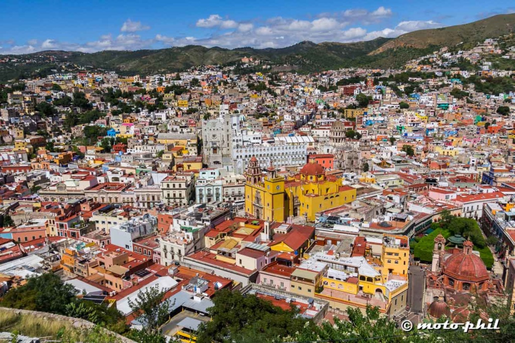 View on Guanajuato from the mountains